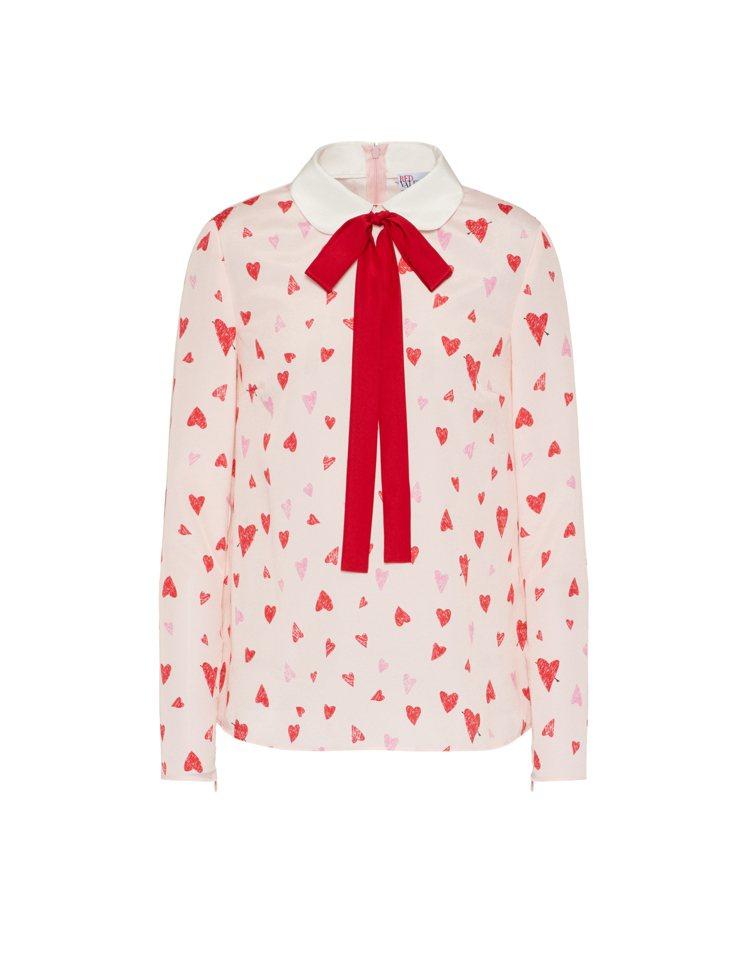春節節慶系列愛心襯衫,18,800元。圖/REDValentino提供 吳曉涵
