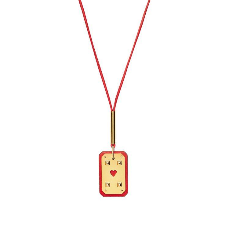 As de Coeur系列墜飾項鍊,23,100元。圖/愛馬仕提供 吳曉涵