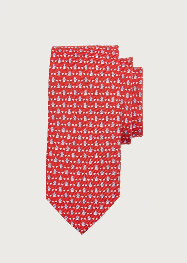 紅色愛心造型領帶,7,200元。圖/Salvatore Ferragamo提供 ...