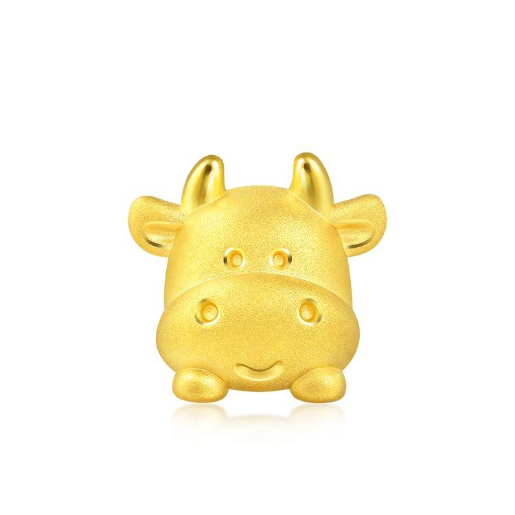 點睛品Charme「可愛系列」萌牛足金串珠,7,000元。圖/點睛品提供 孫曼