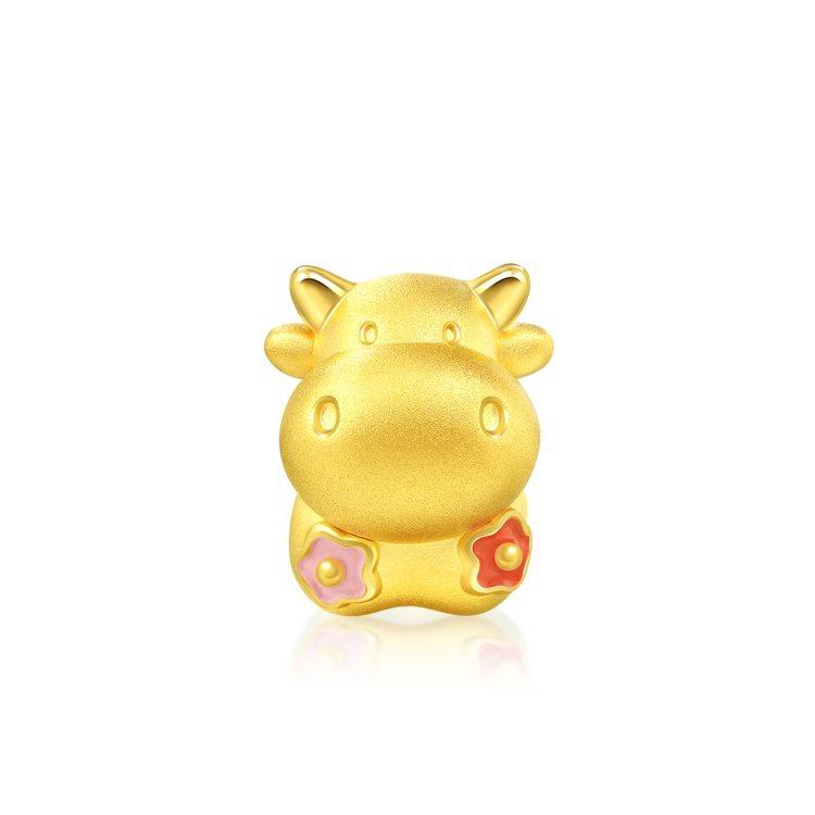 點睛品Charme「可愛系列」牛五花足金串珠,7,000元。圖/點睛品提供 孫曼