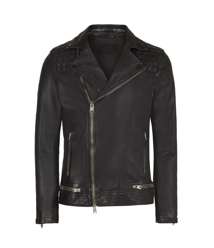 AllSaints Conroy男款騎士皮衣20,200元。圖/AllSaint...