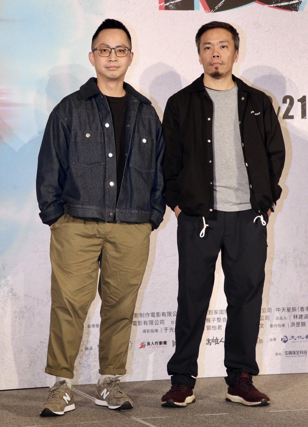 《複身犯》記者會,導演蕭力修(右)、監製林秉聿。記者林俊良/攝影 林俊良