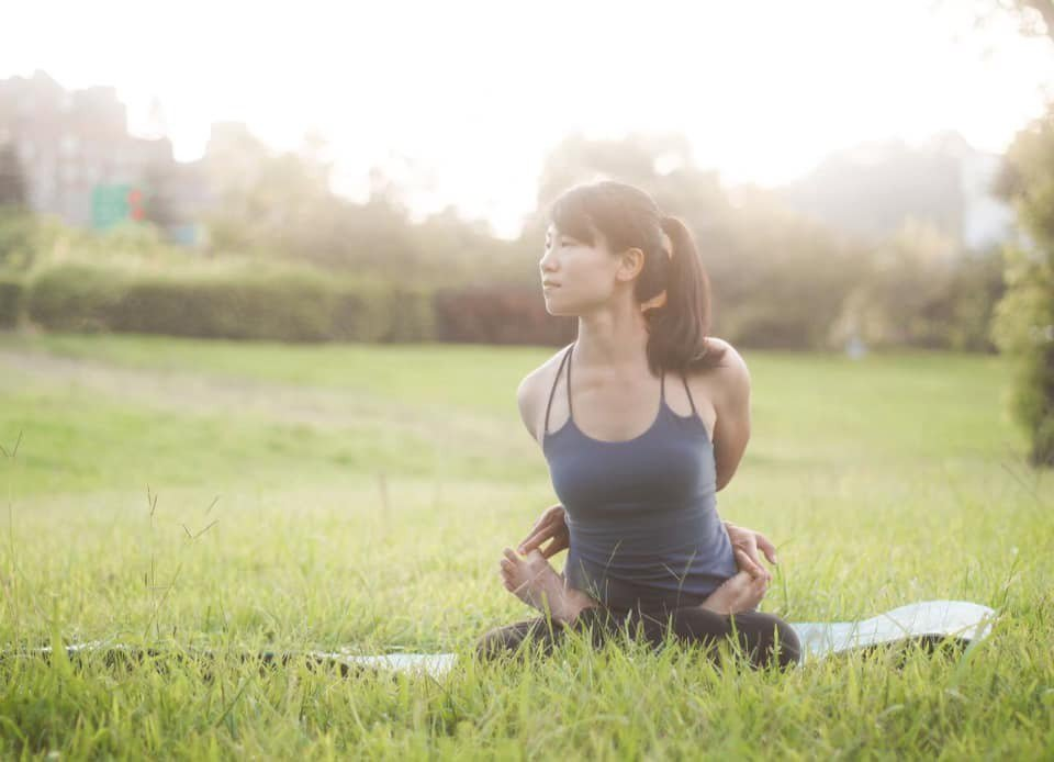 Ariel轉型成為瑜珈老師。運動,成為她奇幻旅程的開啟點。圖片由Ariel授權「有肌勵」刊出