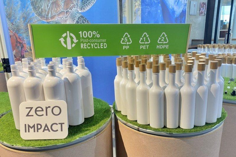 歐萊德貫徹綠色永續精神,洗髮精產品採用「消費後再生塑膠」PCR瓶身。 業者/提供