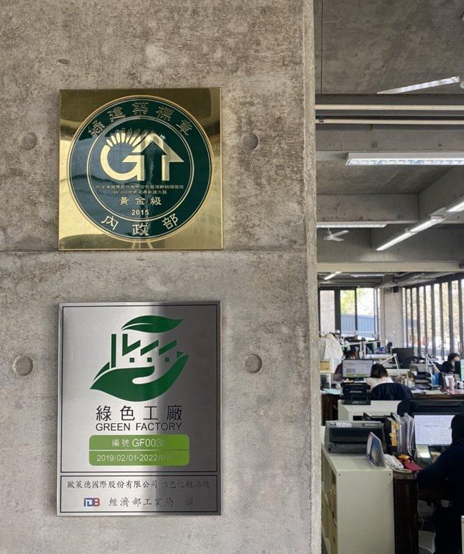 歐萊德取得「組織型碳中和」認證,位於桃園龍潭的綠建築總部與綠色工廠都已達成零碳排...