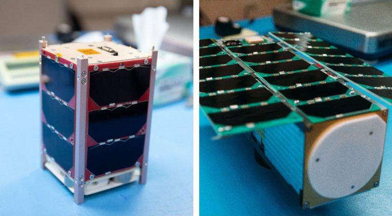 我國立方衛星「玉山」(左)、「飛鼠」(右)。圖/國家太空中心提供