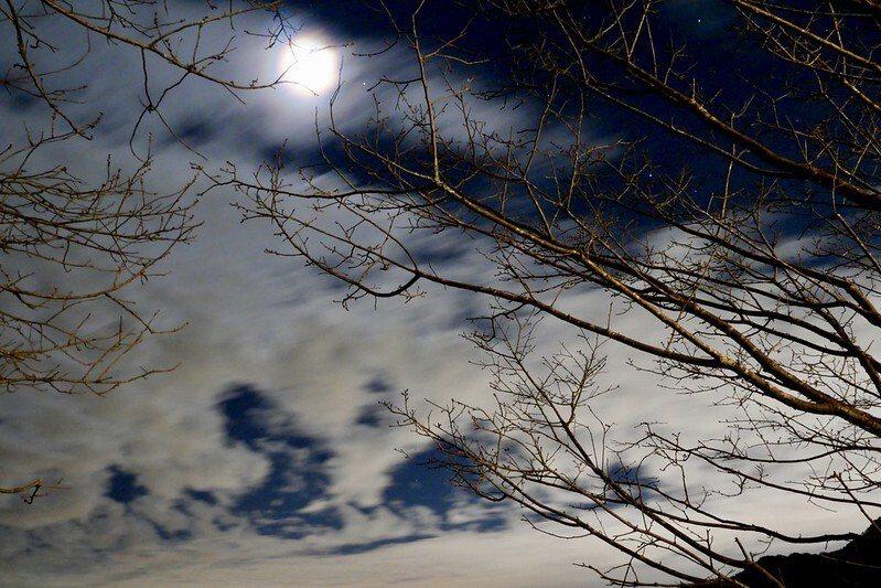 星空上的月亮,好近喔!