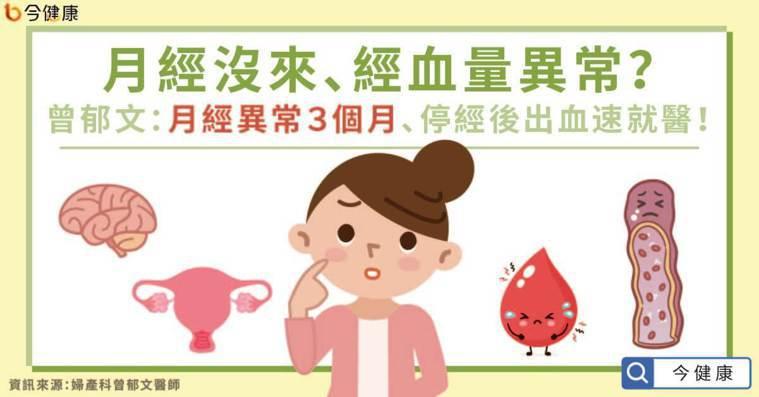 月經沒來、經血量異常?曾郁文:月經異常3個月、停經後出血速就醫!