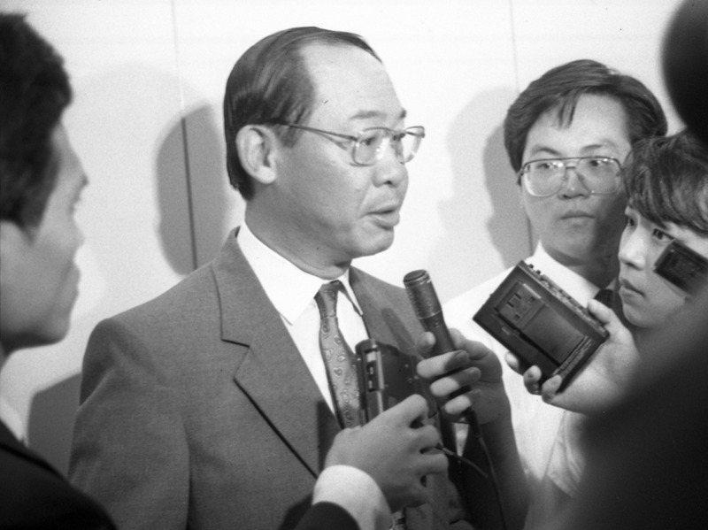 錢復(右三)是耶魯大學國際關係學博士,久歷外交沙場。圖/聯合報系資料照片
