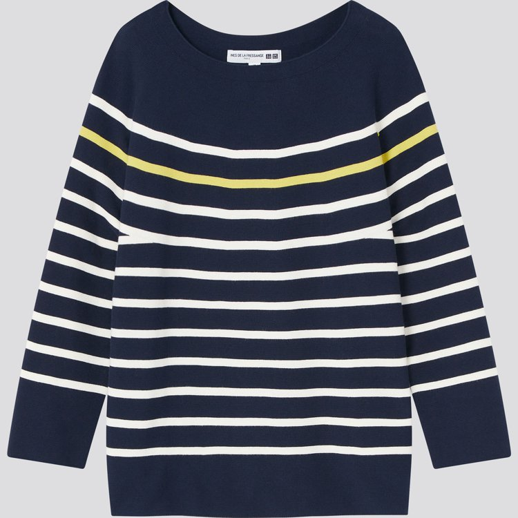 INES DE LA FRESSANGE聯名系列3D織法條紋針織衫1,290元。...