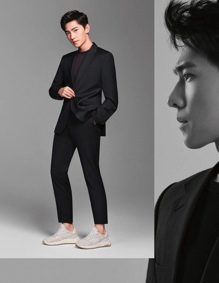 楊洋成為義大利精品休閒鞋履HOGAN的最新全球代言人。圖/迪生提供