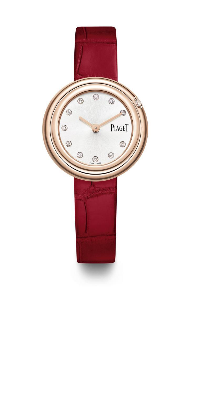 林心如在新戲「她們創業的那些鳥事」中配戴上伯爵Possession系列玫瑰金鑽表...