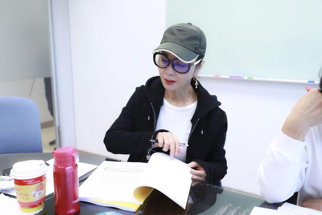 陳美鳳第一個報到「黃金歲月」劇組參加讀本會。圖/民視提供
