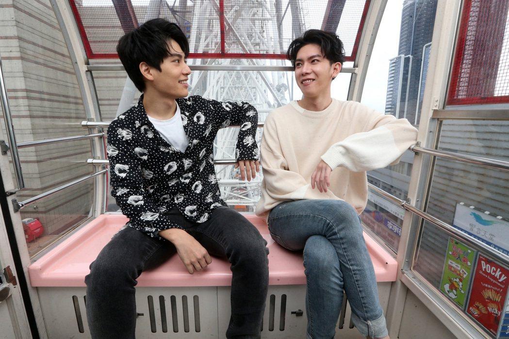 林子閎(左)、楊宇騰因為新戲組男男CP。記者胡經周/攝影
