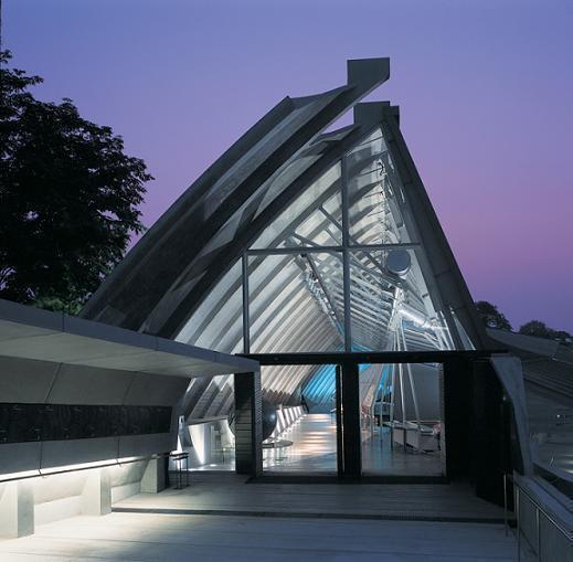 921地震教育園區入口。圖/邱文傑建築師事務所提供