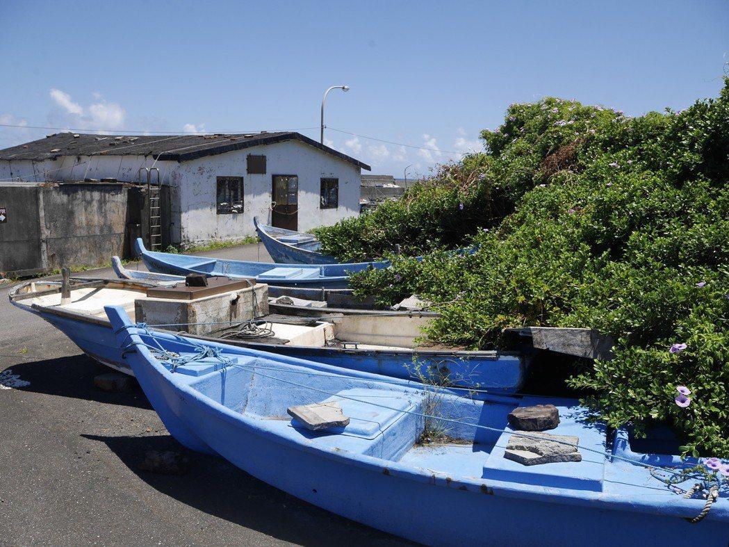馬崗漁村聚落有半數建築是石頭屋構造。 圖/吳淑君攝影