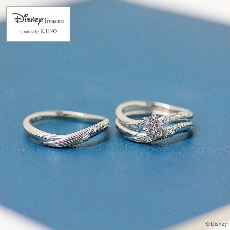 K.UNO Disney Fantasia系列授權婚戒。圖/K.UNO提供 孫曼
