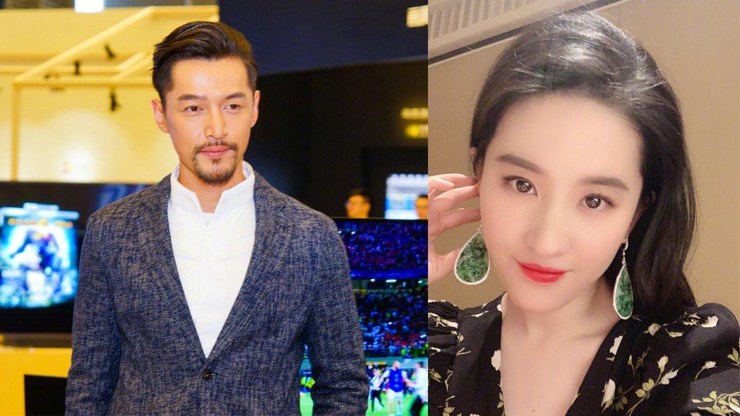 網瘋傳胡歌、劉亦菲已婚。圖/擷自微博