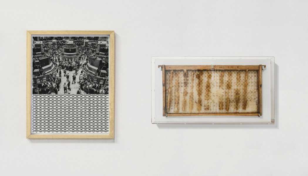 埃爾南德創作的「自然的狀態-華爾街紐約證券交易所」。圖/路由藝術提供
