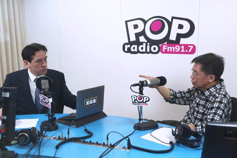 前立委沈富雄今早接受廣播專訪,提到中廣董事長趙少康若參選2024,勝出機會最大。圖/《POP撞新聞》提供