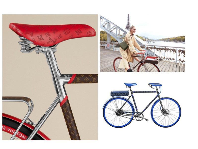 路易威登與巴黎的自行車製造商Maison TAMBOITE Paris聯手推出全新LV Bike系列。圖/LV提供