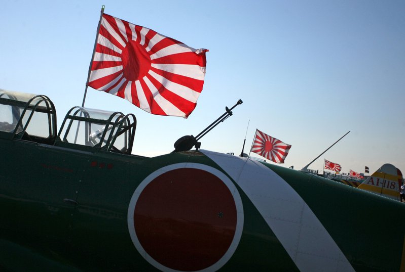 美國休士頓航空展展出的日本二戰軍機。美聯社