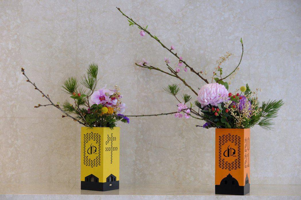 禮盒也可以變成花器,創作花藝生活融入美學。 圖/業者提供