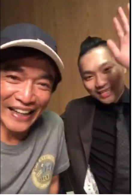 吳宗憲(左)和連千毅一起合體拜年。圖/摘自臉書