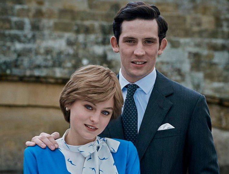 「王冠」第4季對於查爾斯與黛安娜婚姻的描述引發擁皇室派的不滿,認為遭到醜化。圖/...