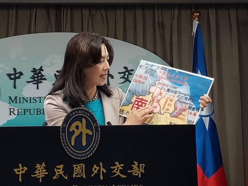 外交部今天表示,外交部與蓋亞那外交部達成共識,決定在蓋亞那合作共和國設立「台灣辦公室」(Taiwan Office),圖為外交部發言人歐江安。記者徐偉真/攝影