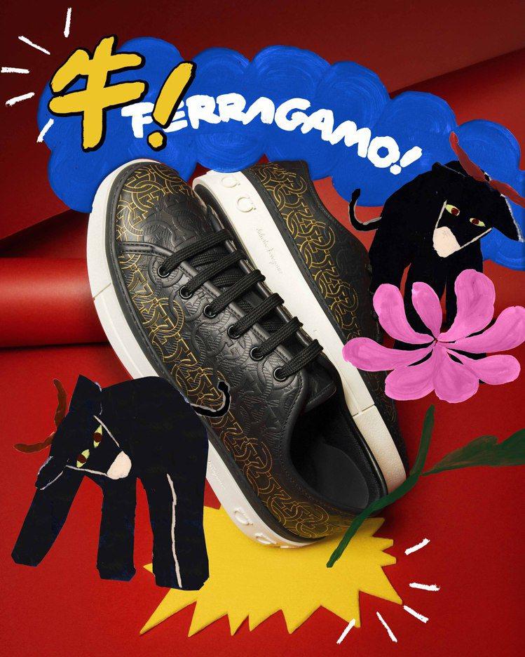 Travel Embossed Animation黑色休閒鞋,25,900元。圖...