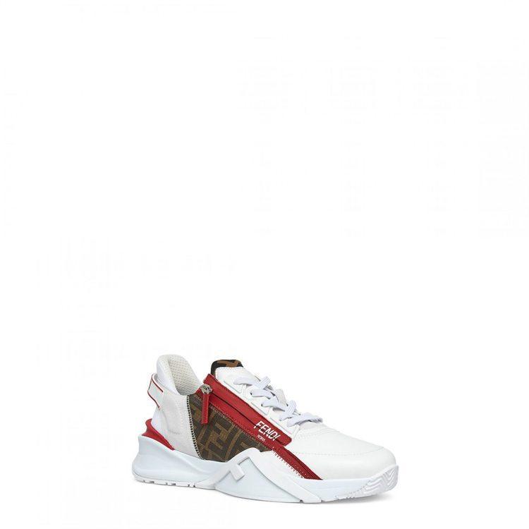 男款FENDI拼色設計Flow休閒鞋,30,500元。圖/FENDI提供