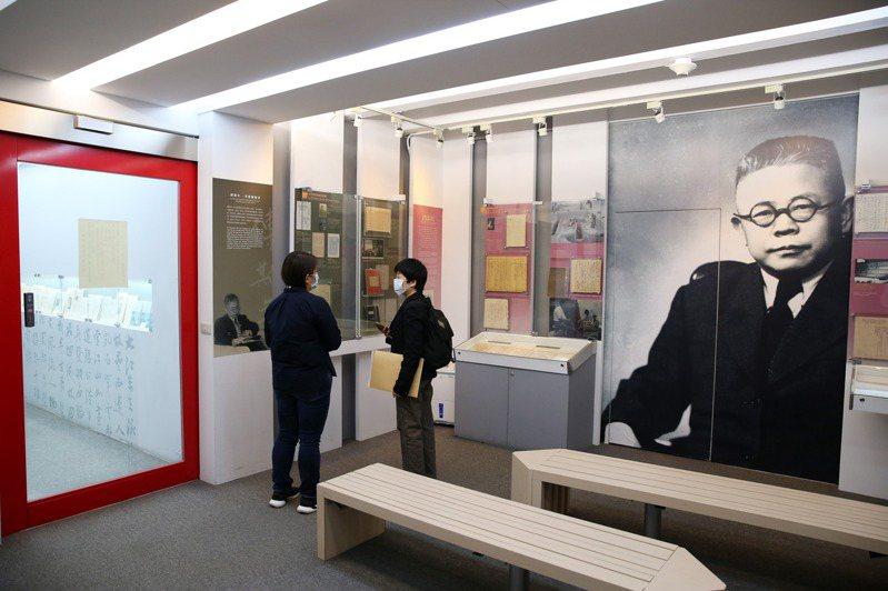 傅斯年紀念室內部。記者邱德祥/攝影
