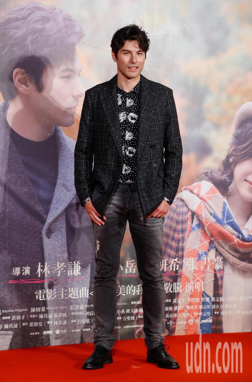 電影《跟你老婆去旅行》首映會晚上在台北市松仁威秀影城舉行,片中主角鳳小岳出席。記...