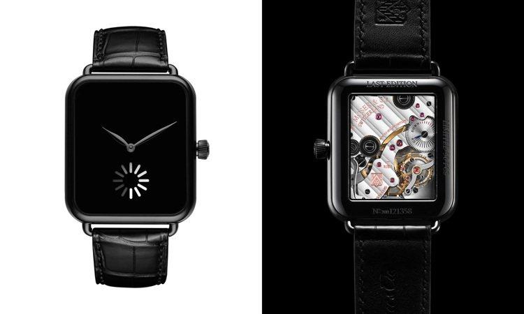 透明的表背將能欣賞HM 324手上鍊機芯的倒角打磨、拋光等修飾工藝,以及96小時...
