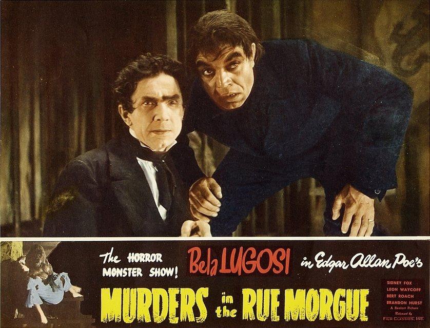 美國作家愛倫坡1841年所寫的《莫爾格街謀殺案》被視為偵探小說的鼻祖。圖為1948年版的改編同名電影。 圖/維基共享