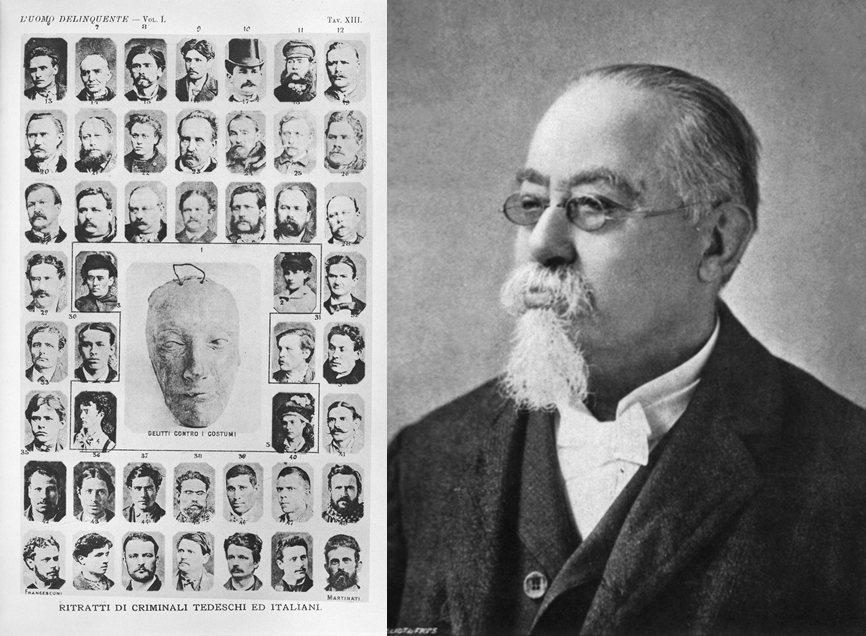 1870年代引領犯罪學研究的柴札爾・倫布羅梭認為,犯罪者是因遺傳因素無法接受文明感化的「未開化人種」。 圖/維基共享