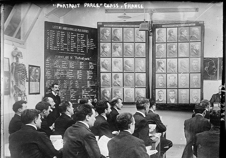 阿爾楓斯・貝赫提隆開發紀錄犯罪者的系統,使得法國的司法警政部門成為一個龐大的個人資料庫。 圖/維基共享