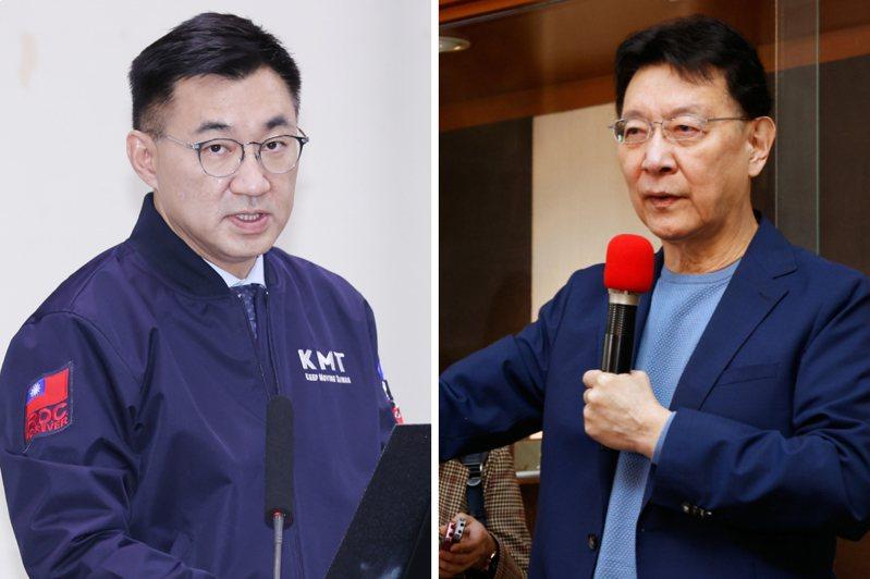 國民黨主席江啟臣(左)、趙少康。圖/聯合報系資料照