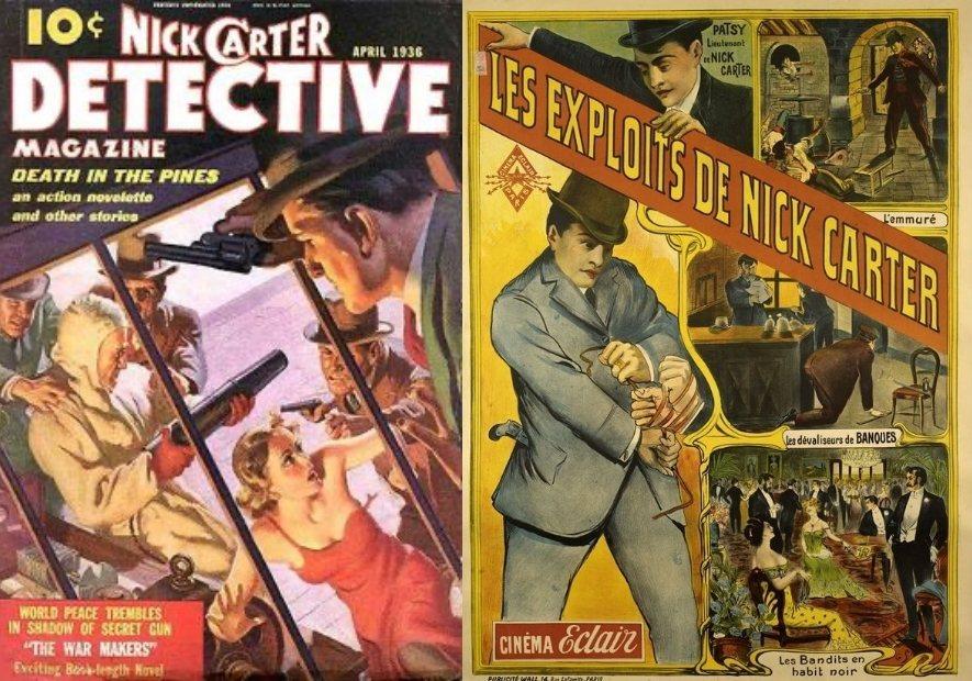 尼克・卡特(Nick Carter)是美國偵探小說的人物,該小說被翻譯為法文。 圖/維基共享