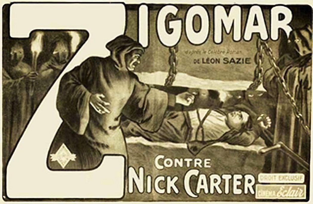 日本第二波的偵探小說熱潮,是伴隨法國吉格瑪(Zigomar)電影的熱潮。 圖/維基共享