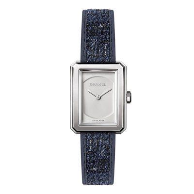 香奈兒BOY·FRIEND精鋼腕表小型款,搭配可替換式表帶,12萬4,000元。...