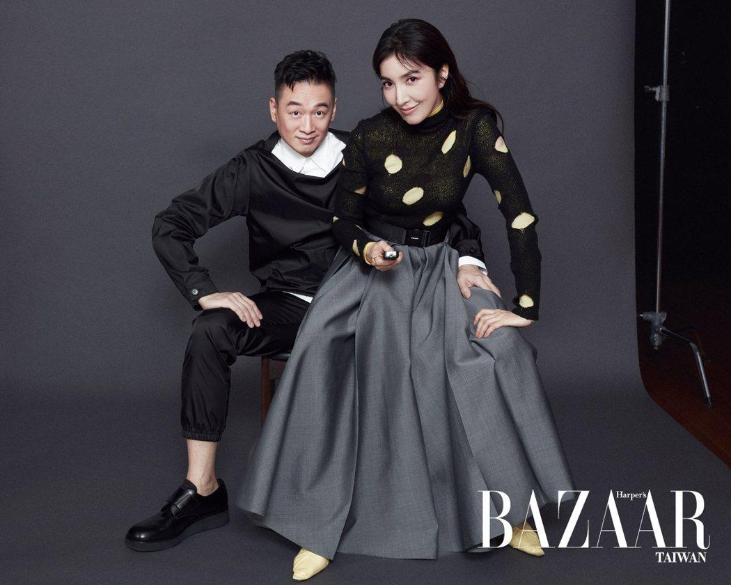 楊謹華和老公Ben檔首次合體登上雜誌封面,夫妻大談相處之道。圖/《Harper'...