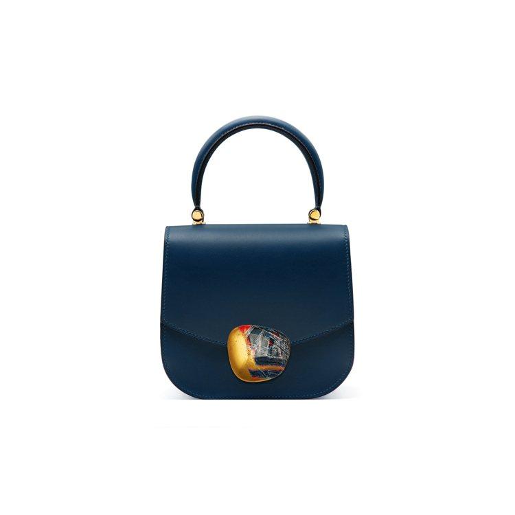 Aphrodite 168 Gold Bleu Polo小牛皮革包款搭配Shad...