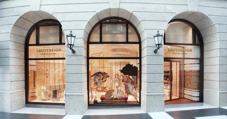 SAUVEREIGN台灣旗艦店於BELLAVITA寶麗廣場一樓正式開幕。圖/SA...
