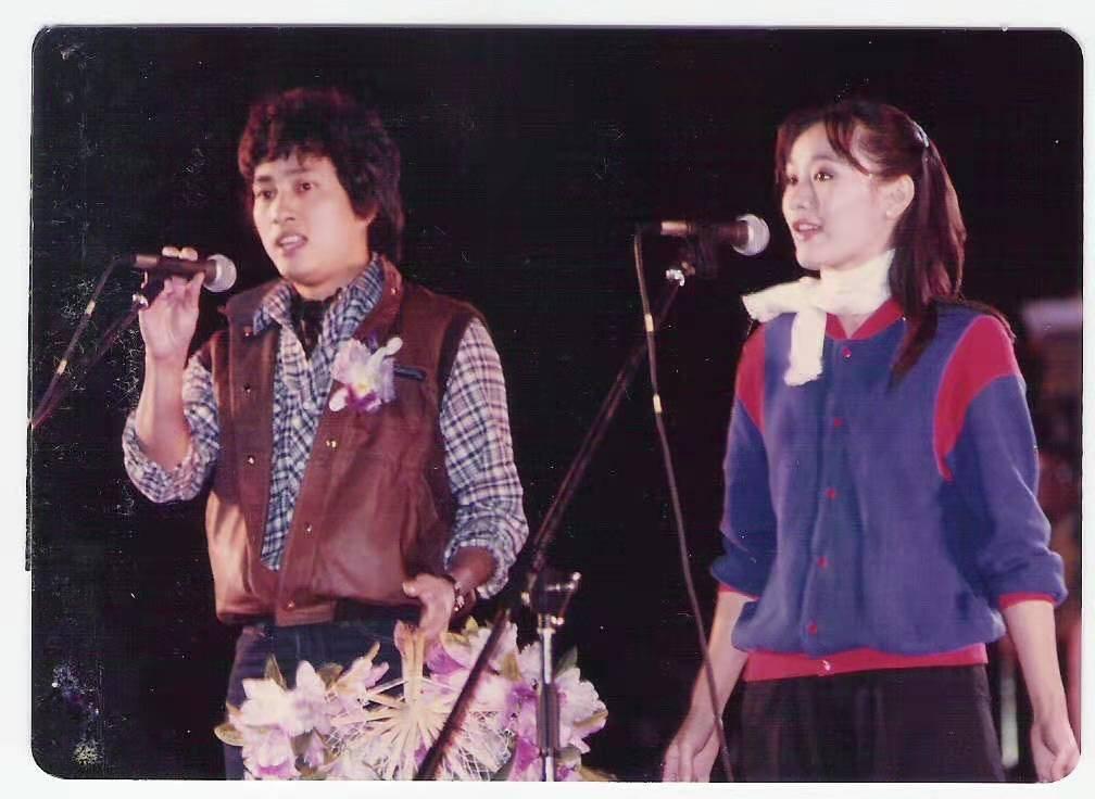 姜厚任(左)當年和沈雁一起合作電影,兩人也是訓練班的同班同學。圖/姜厚任提供