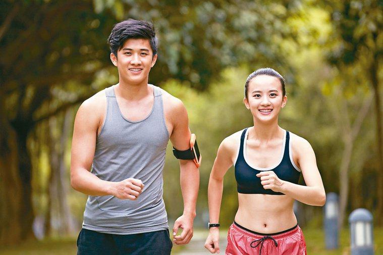 飲食均衡,隨時想跑就跑。圖/123RF