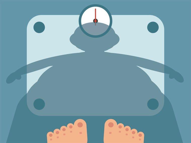 減重成功,首要量體重。圖/123RF