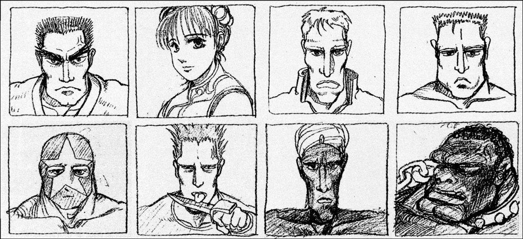 在《快打旋風30周年紀念合集》中,有收錄許多相關的遊戲設定資料,例如八位角色初始...